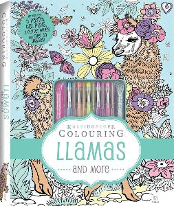 Kaleidoscope Colouring Lamas