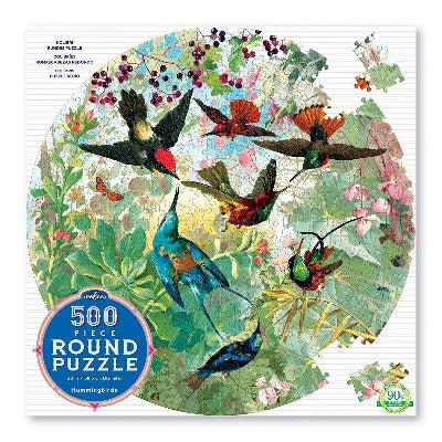 Puzzle - Eeboo Round Hummingbirds 500 pc
