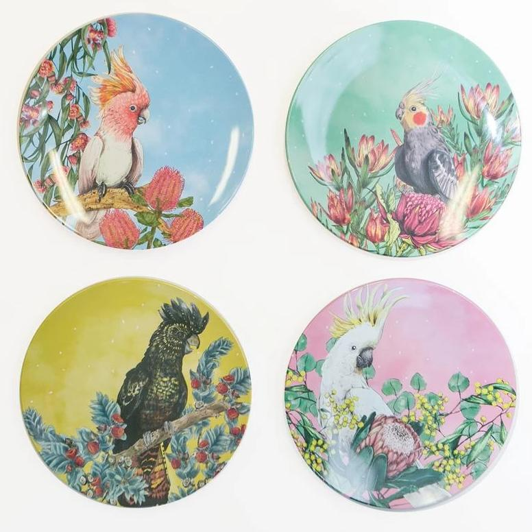 La La Land - Plate Set Cockatoos of Australia