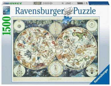 Puzzle - Ravensburger World Map Fantastic Beasts 1500 pc