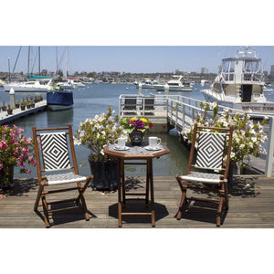 Benson Natural Poly-Rattan and Bamboo set of 2 Chairs and a Table 36""