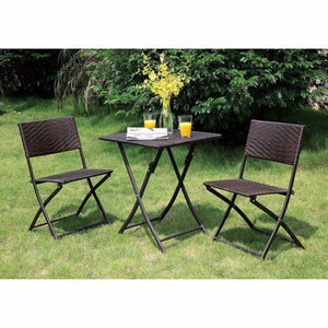 Brendon Cottage Style 3-Pc Patio Set, Expresso