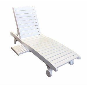 Bo Relaxing Wooden Chair,White