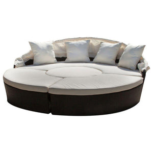 GDF Studio 4-Piece Bellagio Outdoor Sectional Daybed