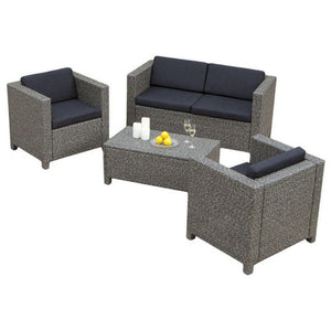 GDF Studio 4-Piece Venice Outdoor Wicker Sofa Set