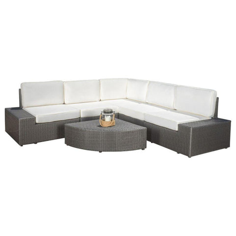 GDF Studio 6-Piece Reddington Outdoor Sofa Sectional Set