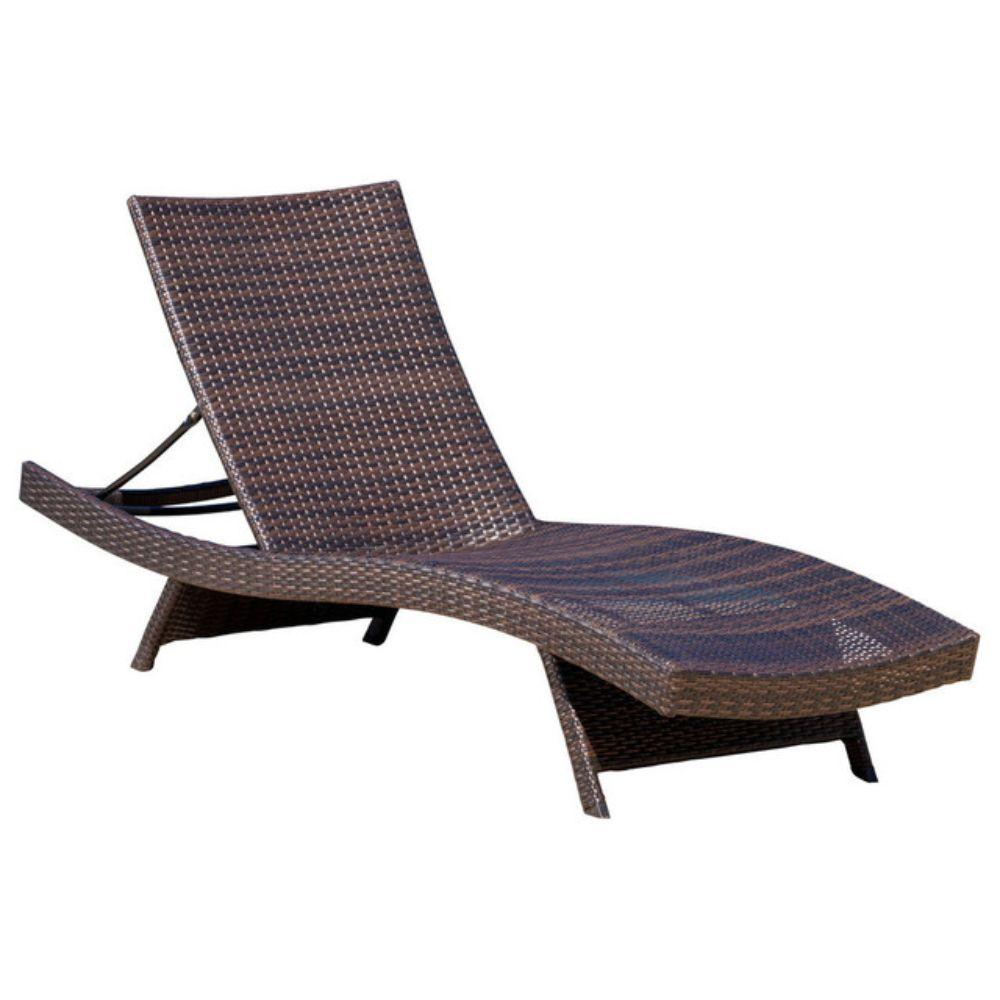GDF Studio Lakeport Outdoor Adjustable Chaise Lounge Chair