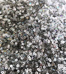 2mm Silver AB Sequins