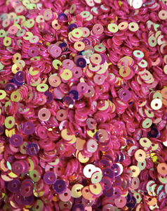 4mm Bright Hot Pink AB Sequins