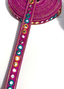 Magenta 1 Line Shisha Mirror Work Embroidery trim