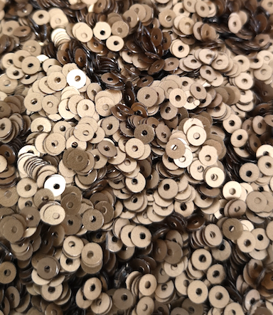 2mm Matt Bronze opaque Sequins