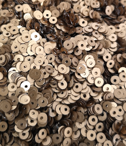 3mm Matt Bronze opaque Sequins