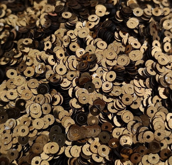 4mm Dull Bronze Shiny Metallic Sequins