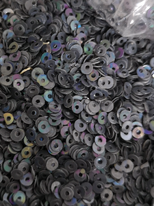 3mm Grey AB opaque Sequins