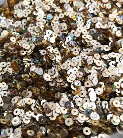 3mm Light Gold Metallic AB Sequins