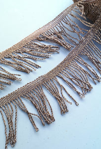 Metallic Twisted Thread Fringe Trim