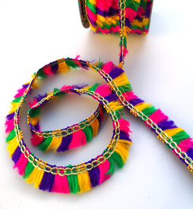 Multicoloured Thread Tassel Fringing Trim