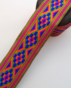 Multicoloured Aztec Design Woven Trim
