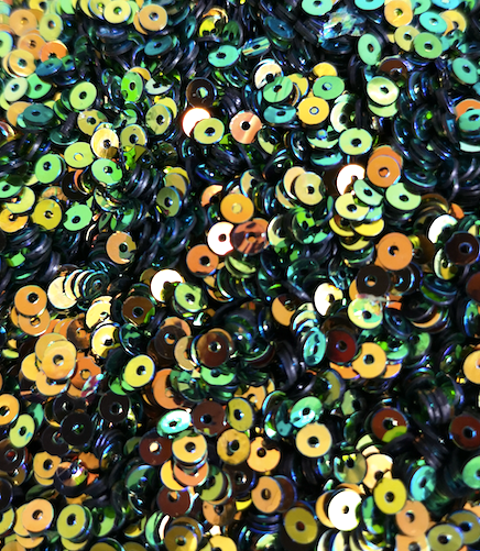 3mm Dark Green AB Sequins