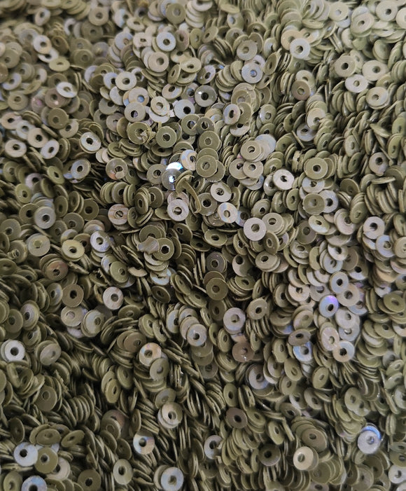 3mm Olive Green opaque Sequins