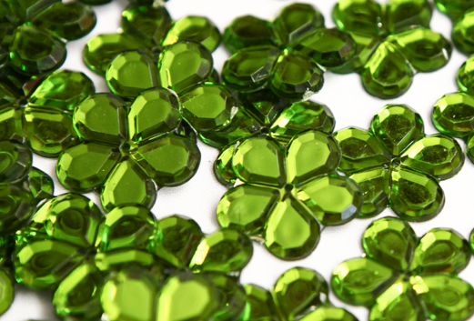 Olive 24mm Big Flower Flatback Gems