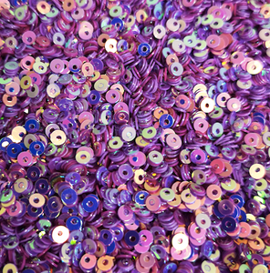 3mm Dusky Purple AB Sequins