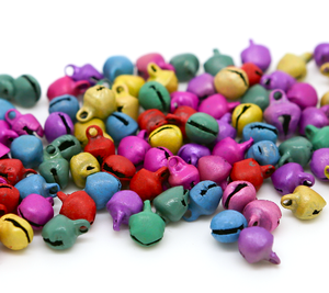 Pastel Mix 10mm x 12mm Christmas Jingle Bells