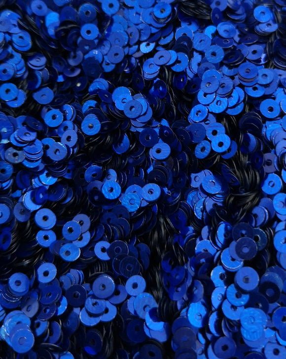 4mm Royal Blue Shiny Metallic Sequins