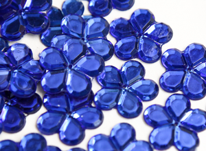 Royal Blue 24mm Big Flower Flatback Gems