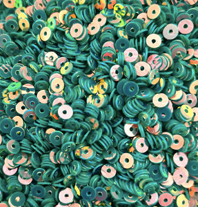 4mm Sea Green AB Sequins