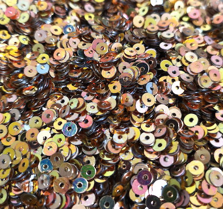 4mm Shiny Bronze Gold Sequins