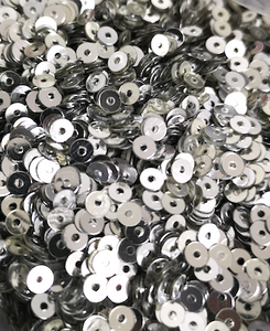 4mm Silver Mirror Opaque Sequins
