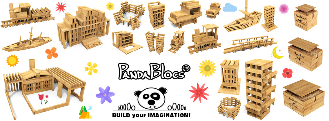 PandaBlocs™ 75 Pieces