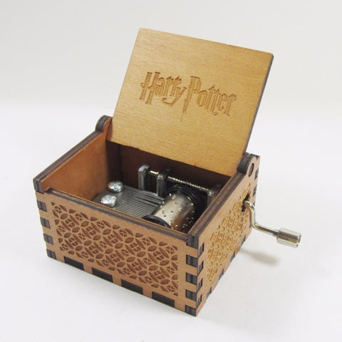 Antique carved wooden harry potter music box, Christmas gift, new year gift, birthday gift