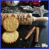 Image of Christmas Embossing Rolling Pin