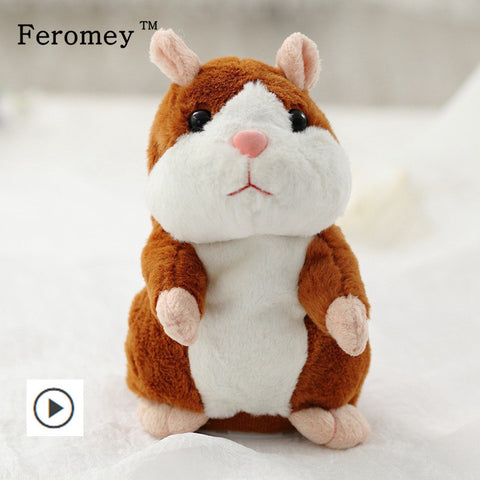 Cute Voice Imitating Talking Hamster Plush Toy