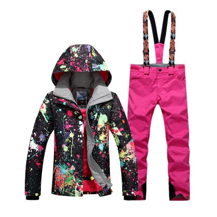 Women Waterproof Ski Suit