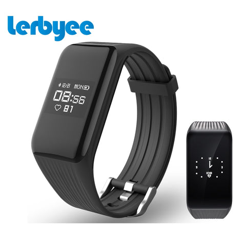 Lerbyee Smart Fitness Tracker with Real-time HR + Waterproof + Andriod Connection