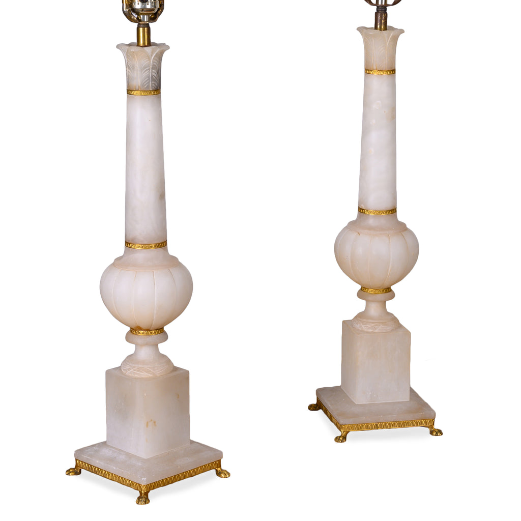 French Alabaster Lamps