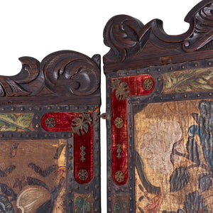 Spanish Leather Screen, 19th Century