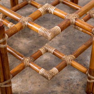 McGuire Bamboo Rattan Coffee Table