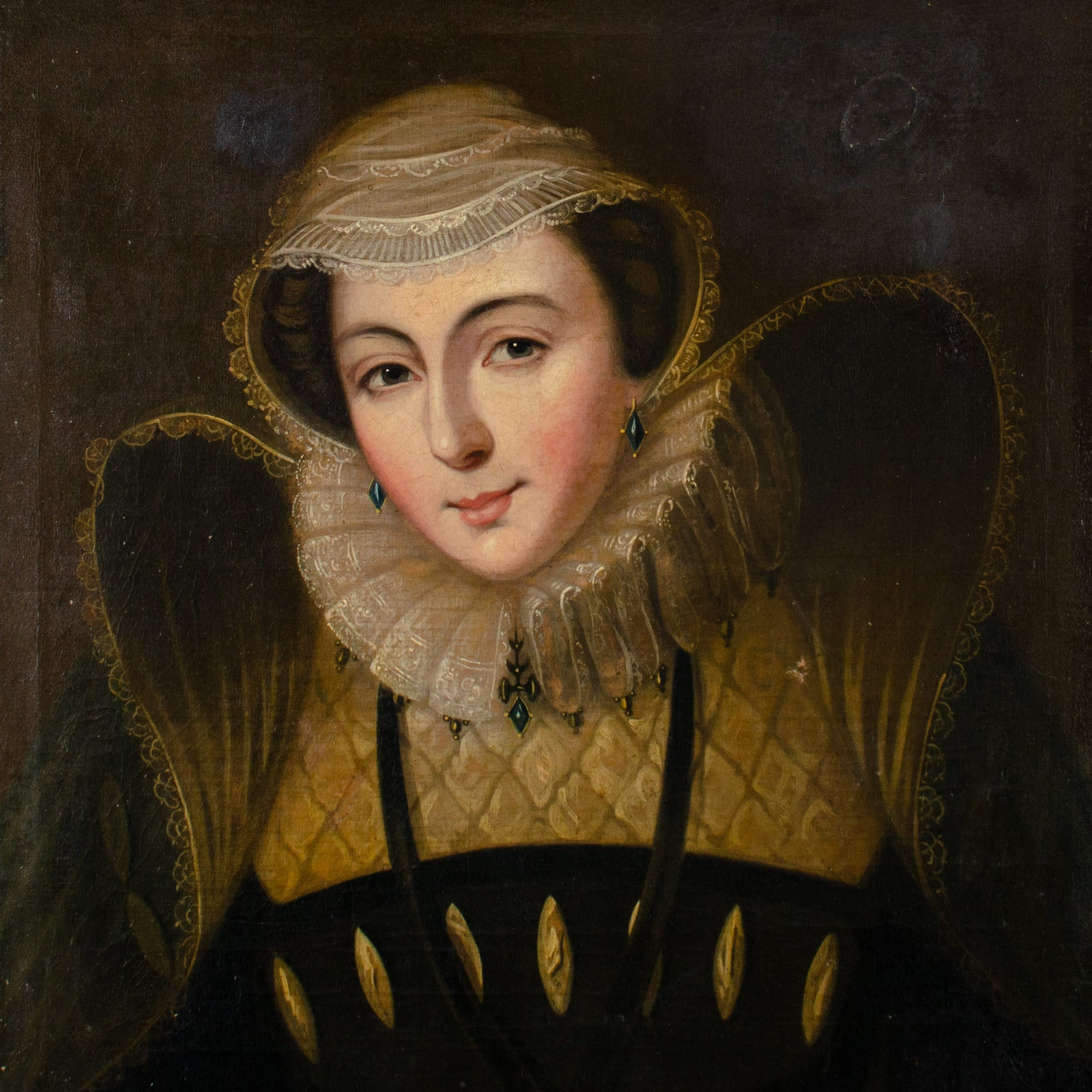 Mary Queen of Scots Portrait Painting, 18th Century