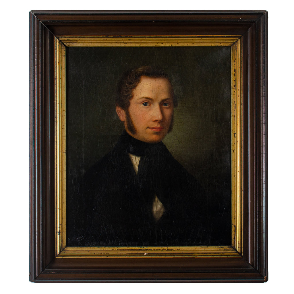 German Gentleman Portrait Painting - Friedrich Maesser, 1847