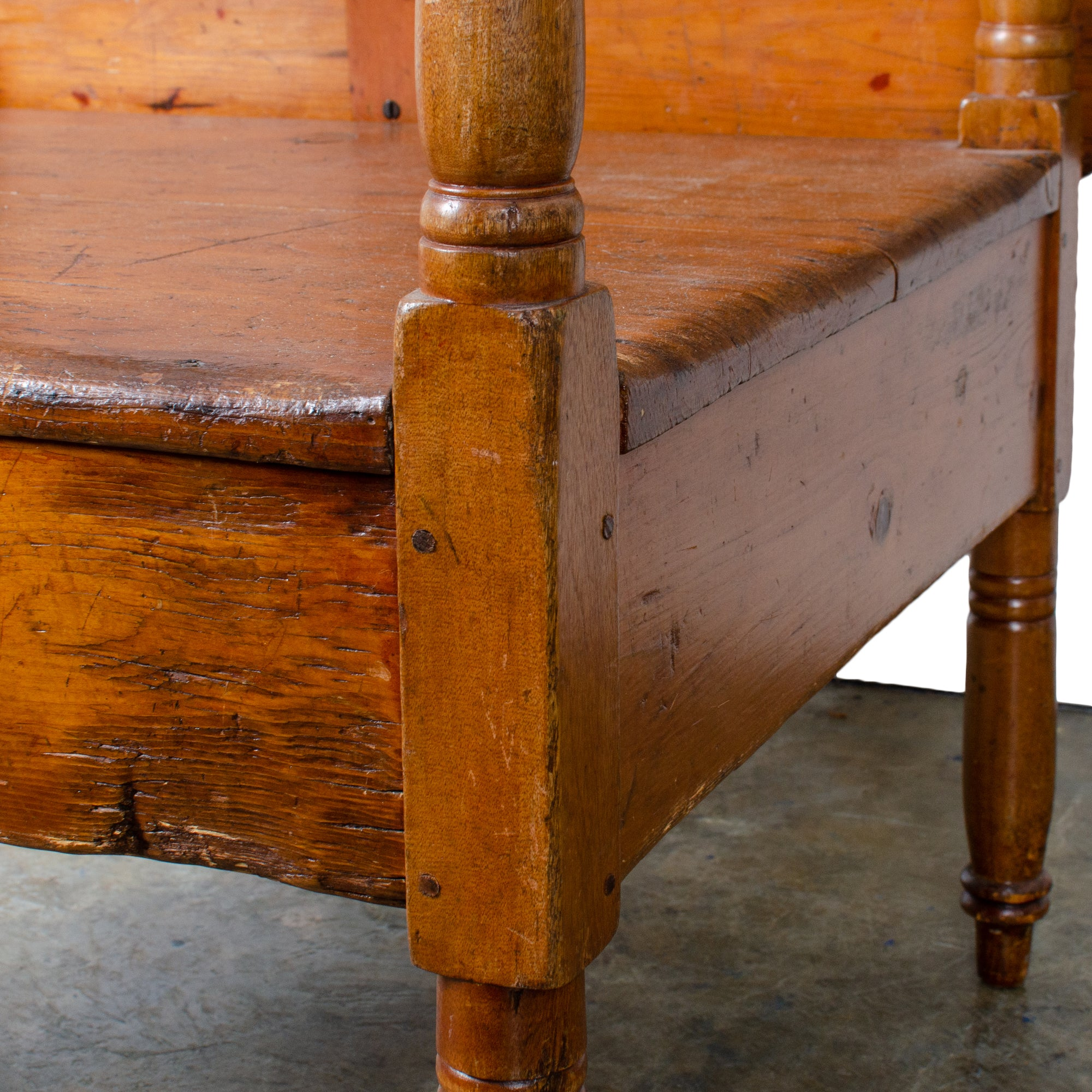 Hutch Chair Table, New England, 19th Century