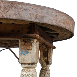 Indian Bullock Cart Wheel Table