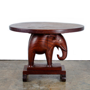 African Mahogany Elephant Side Table c.1940