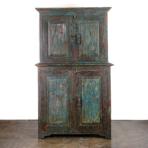 Goan Indian Painted Cabinet, c.1900