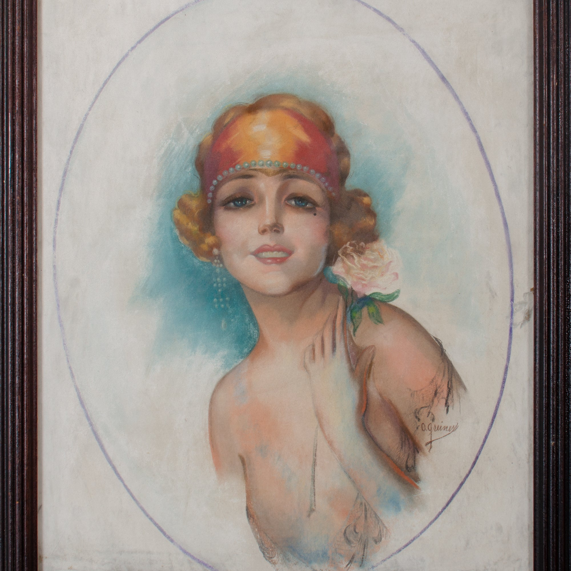 1920s Flapper Girl Magazine Illustration by Oscar Greiner