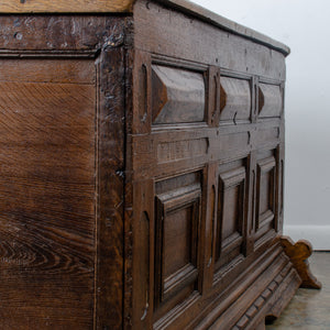 Provincial Spanish Oak Paneled Coffer, c.17th Century