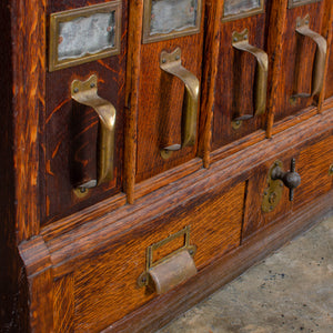 Antique Vertical File Cabinet